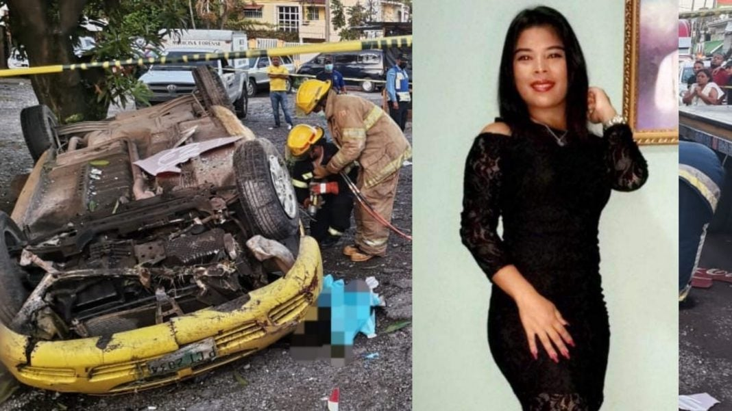 Jovencita accidente La Ceiba