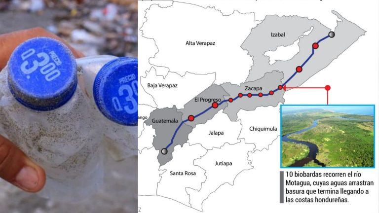 Ni 10 biobardas en el Motagua evitan que Guatemala mande basura