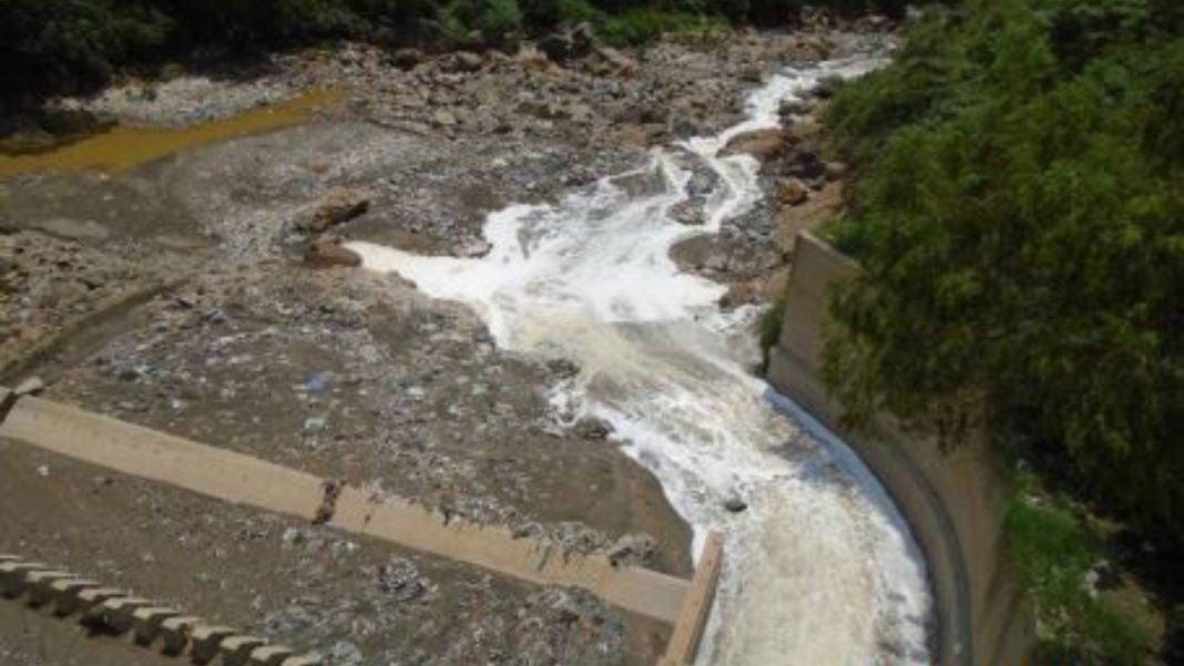 Represa río Las Vacas contaminación