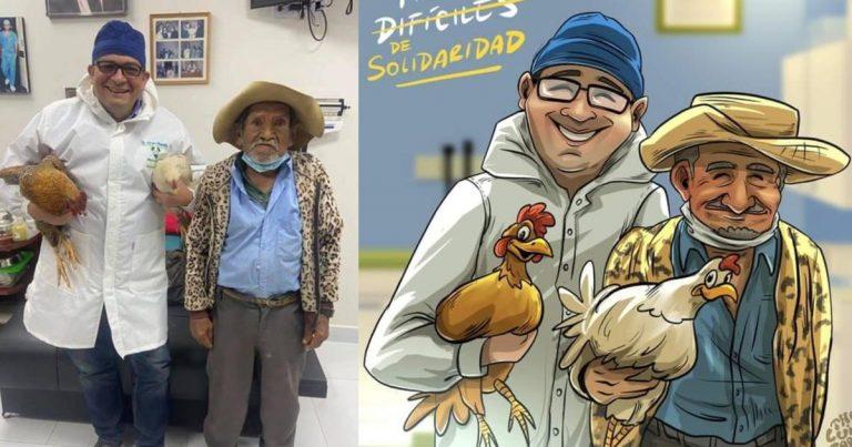 Abuelito que pagó cirugía con gallinas recibirá el alta médica