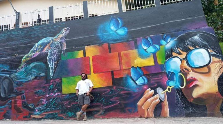 Comayagua: Adornan a Esquías con murales culturales y artísticos
