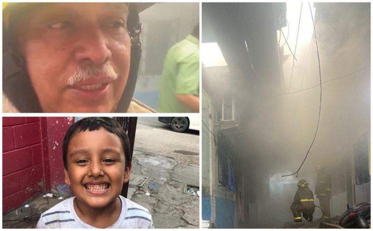 Bombero explica cómo intentaron salvar a niño en incendio de SPS