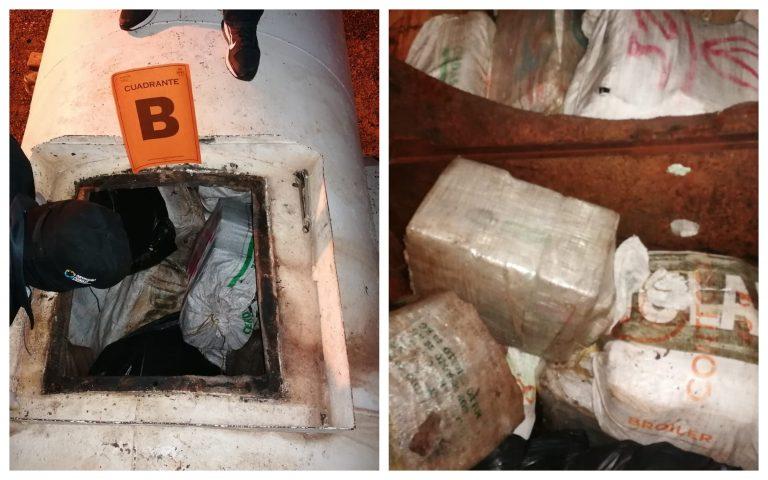 Interceptan cisterna con supuestos fardos de droga en Roatán
