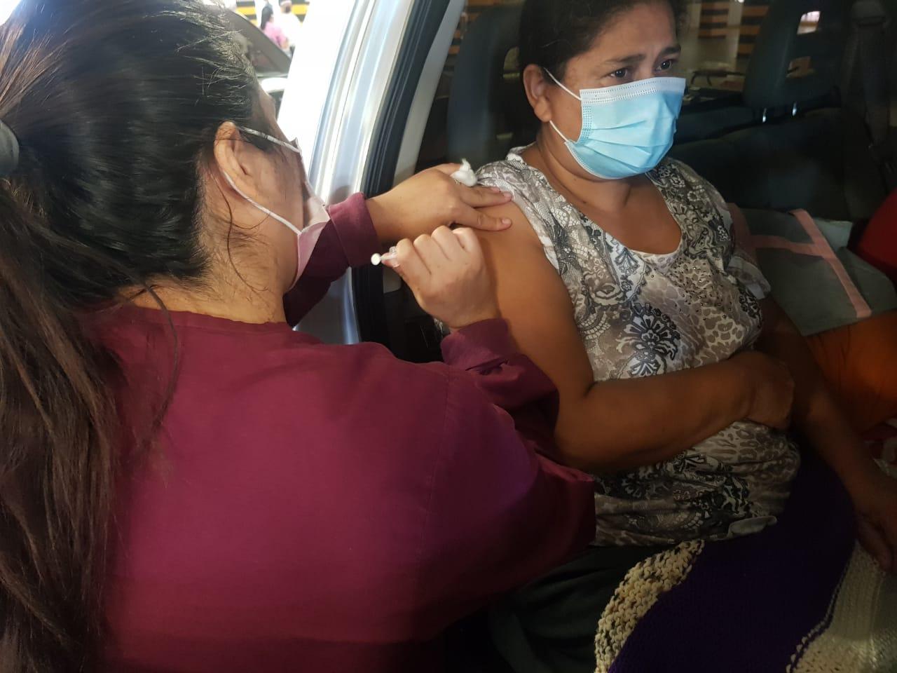 vacunaton en la capital