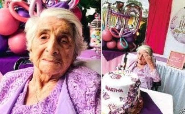 Doña Martha, después de vencer el COVID llega a sus 110 años