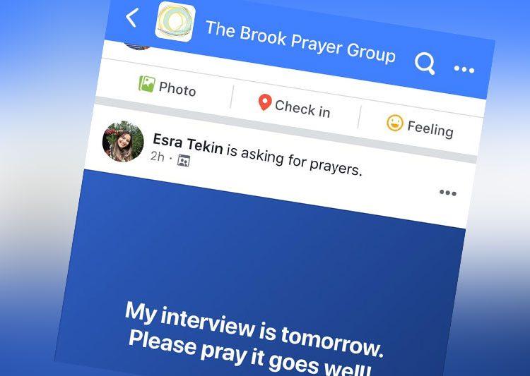 cómo puedo orar en Facebook