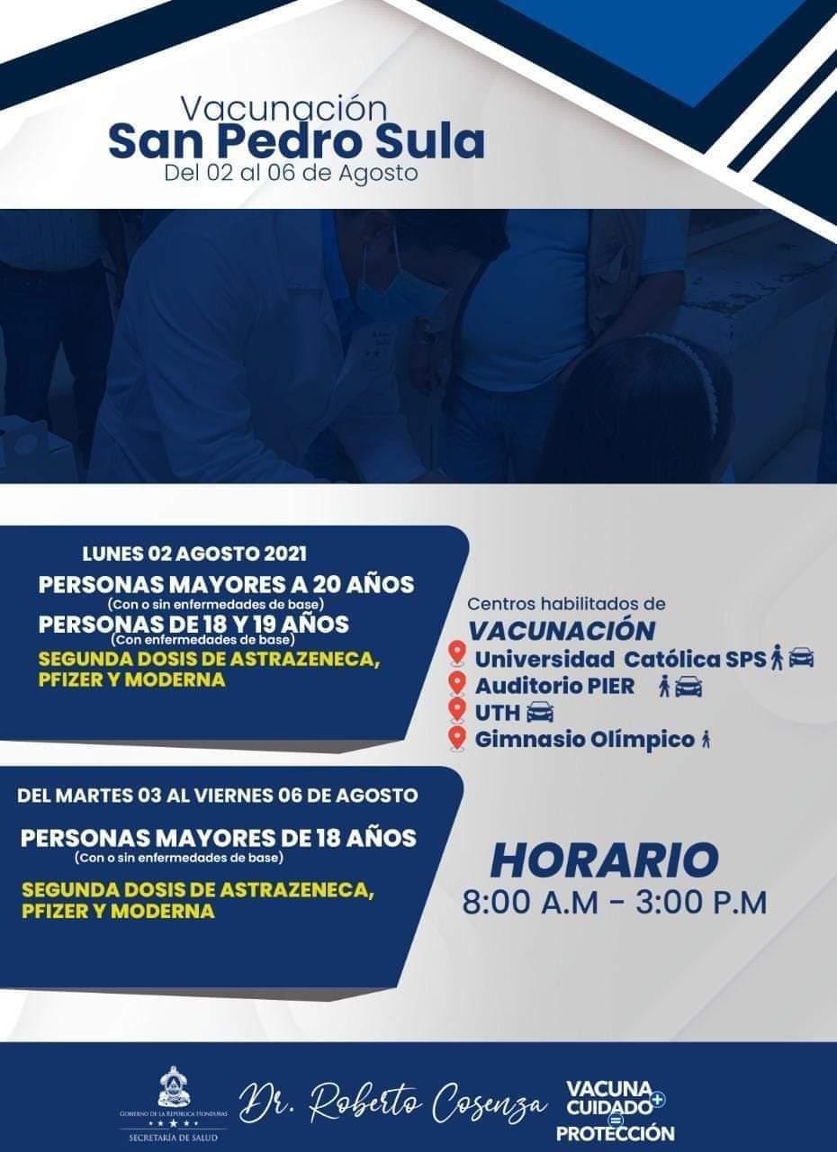 Vacunación jueves COVID Honduras