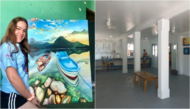 Hondureña abre su propia galería de arte en Islas de la Bahía