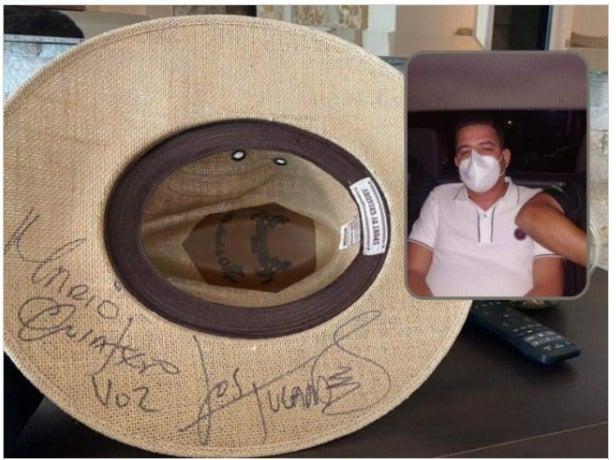 Fredy Mármol tenía un sombrero firmado por Los Tucanes de Tijuana