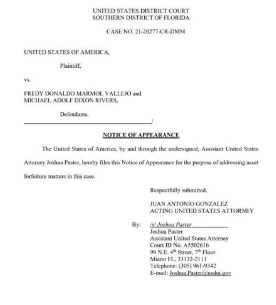 La notificación judicial enviada.