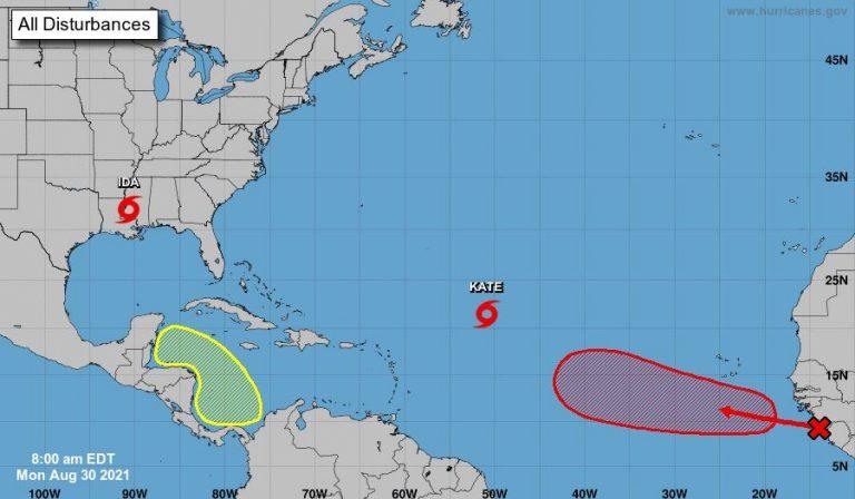 NHC: Nuevo ciclón podría formarse cerca de CA a finales de semana