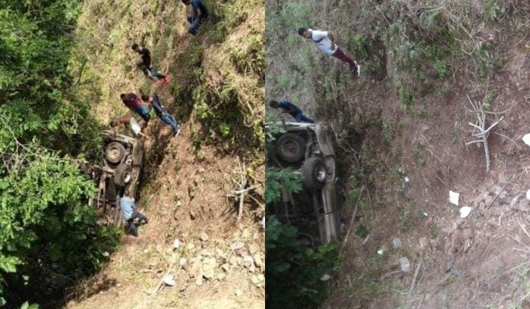 Arrestan a conductor de pick-up que se accidentó en El Corpus