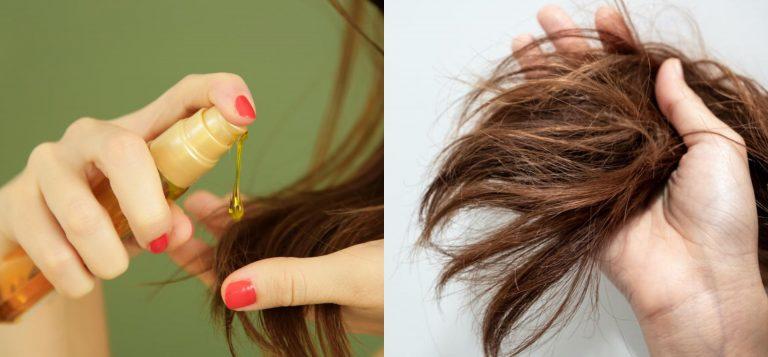 Aceites naturales para el cabello seco, opaco y puntas abiertas