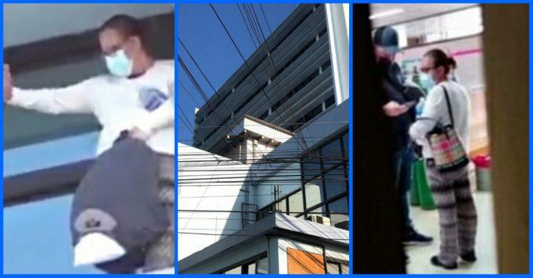 Mujer amenaza con lanzarse de sexto piso del IHSS