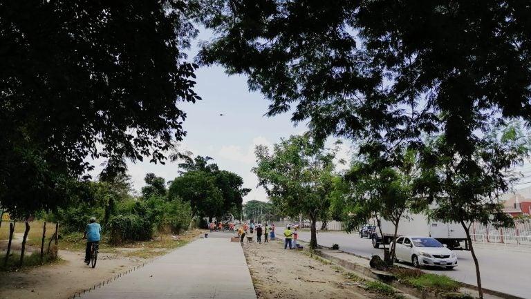 Alcaldía avanza en pavimentación del acceso a la Felipe Zelaya