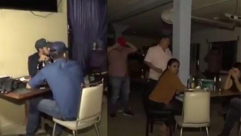 """Policías le """"caen"""" a fiesta clandestina por toque de queda"""