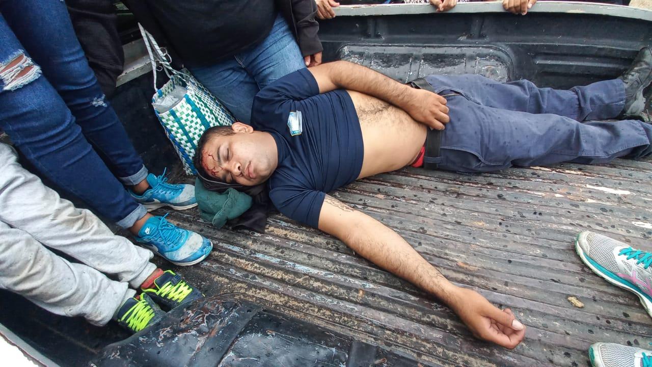 accidente policía muerto