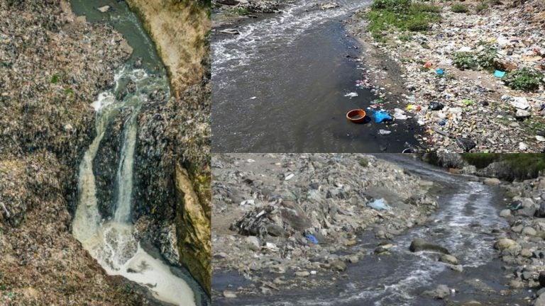 Río Motagua: fotos muestran recorrido de basura hasta Honduras