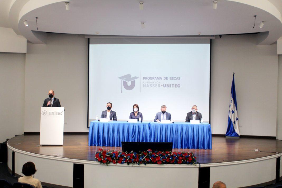 becas de fundación Nasser y UNITEC
