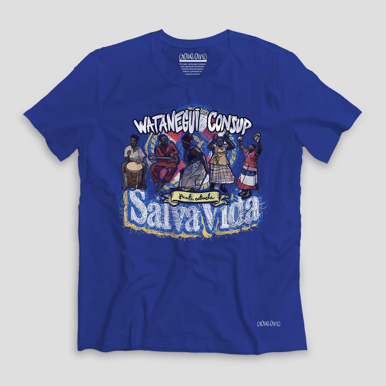 La camisa de Galeano que ha causado la polémica.