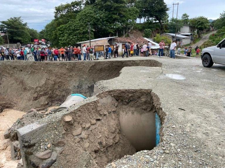 Río Marchala amenaza: emergencia por lluvias en Ocotepeque