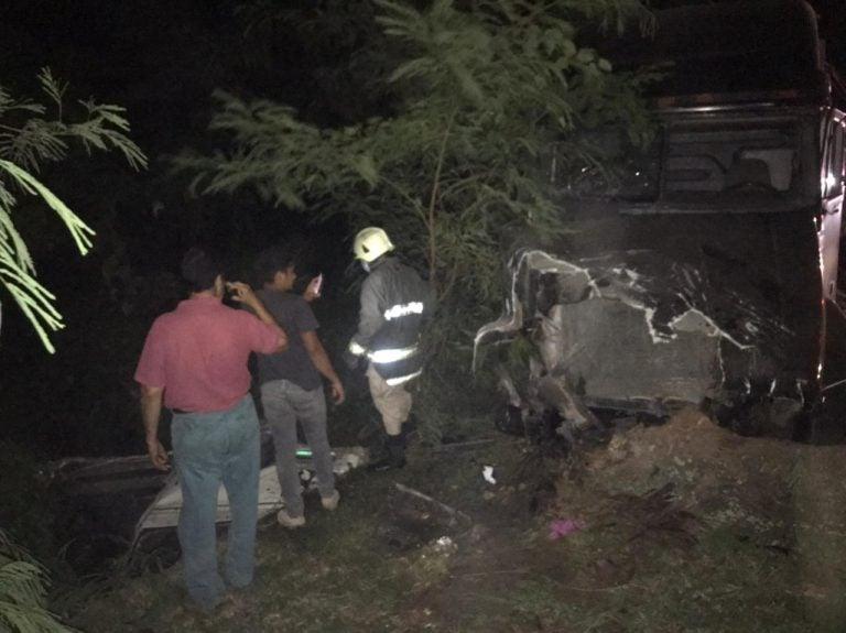 Accidente en Yojoa deja 2 personas muertas y varios heridos