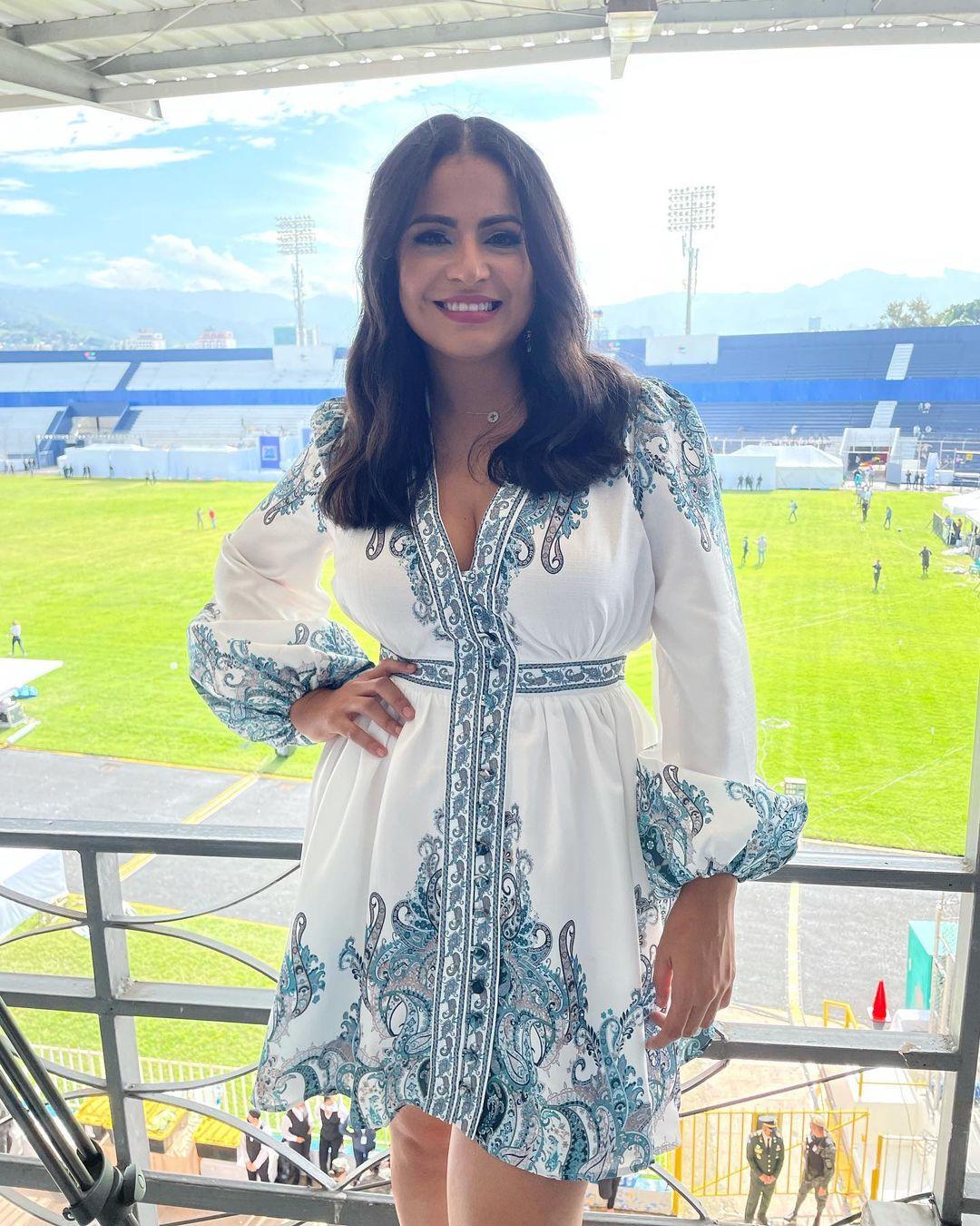 Así lució Samantha desde el Estadio Nacional.