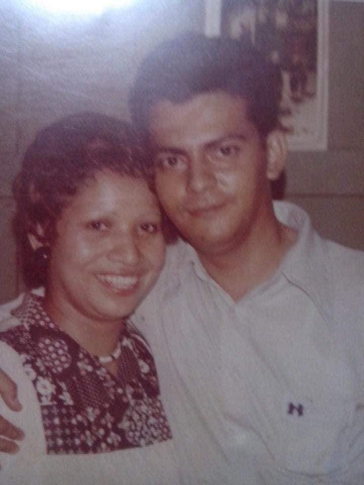 La pareja en su etapa de juventud.