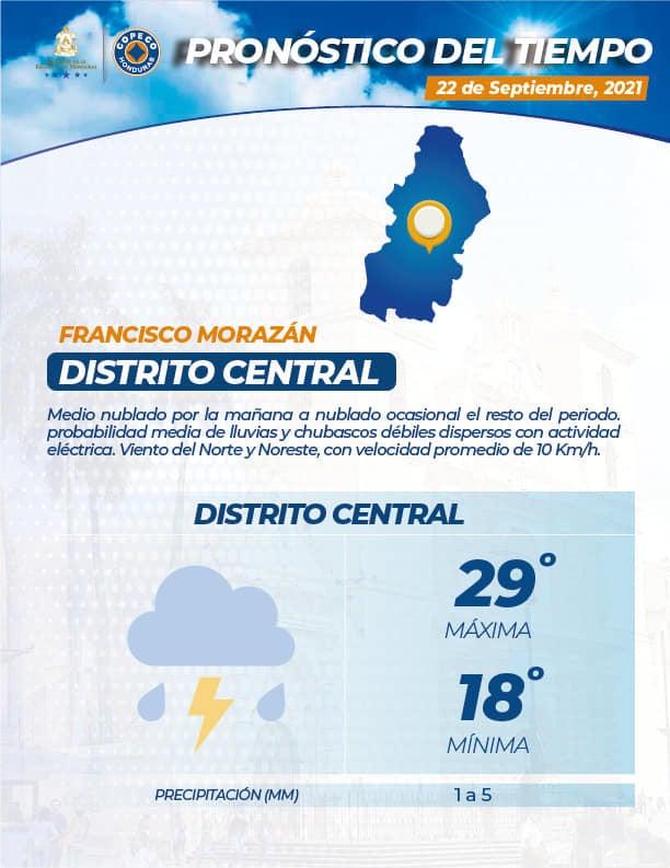 Asimismo, las condiciones en el Distrito Central.