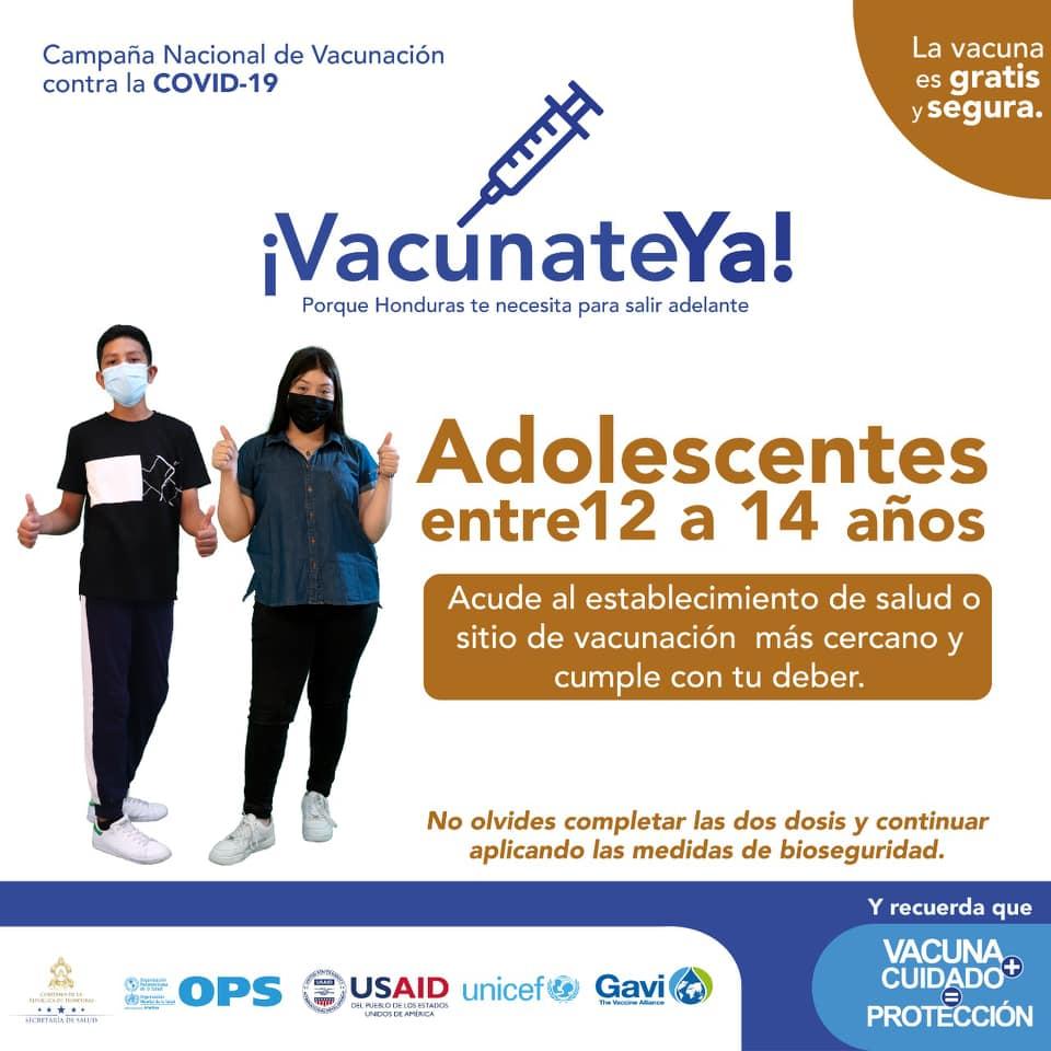 Los niños de 12 años en adelante pueden acudir desde hoy a aplicarse su vacuna conta el COVID-19.
