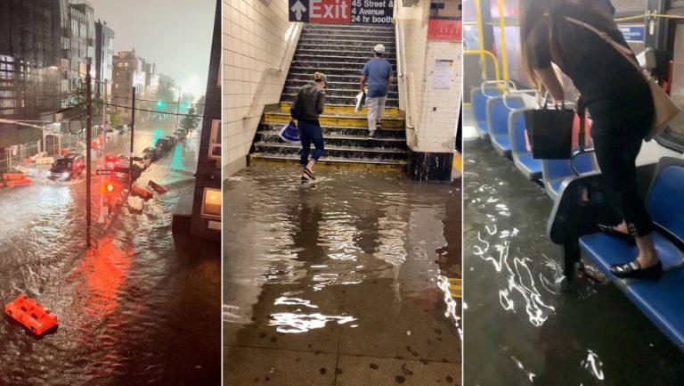 Atribuyen el caos en Nueva York por Ida al calentamiento global