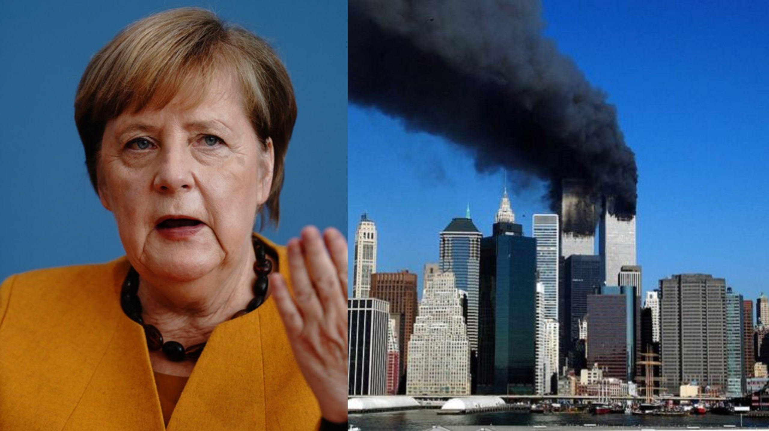 Angela Merkel destacó las imágenes aterradoras de aquel 11 de septiembre del 2001.