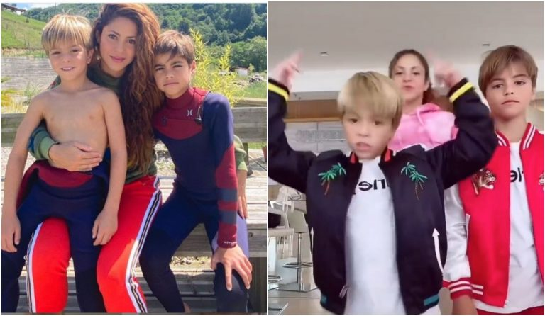 VIDEO: Shakira y sus hijos sorprenden a seguidores con un baile