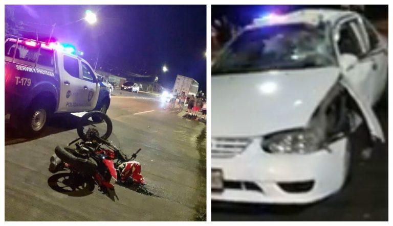 Motociclista muere tras impactar con turismo en La Ceiba