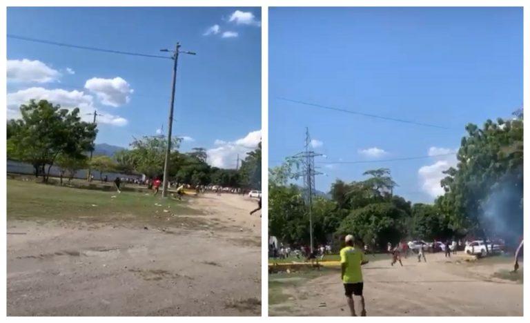 VÍDEOS| Así se dio enfrentamiento en Olímpico de SPS