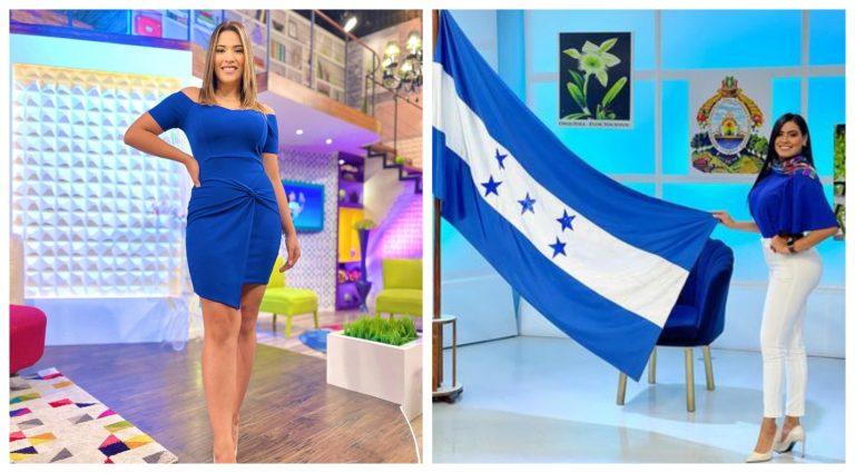 FOTOS| Así recibieron el mes patrio las presentadoras hondureñas
