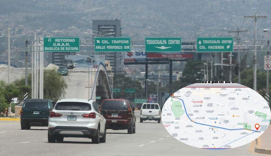 Calles cerradas Tegucigalpa