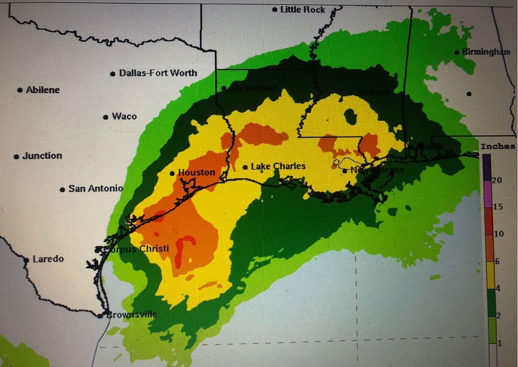 Según previsiones del NHC, Nicholas generará fuertes lluvias y posibles inundaciones en los estados de Texas y Luisiana.