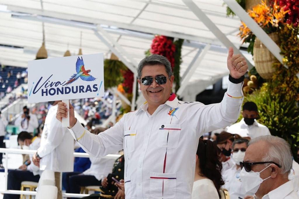 El mandatario hondureño.