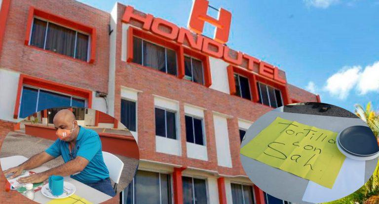 «Tortilla con sal»: Empleados de Hondutel exigen pago de salarios