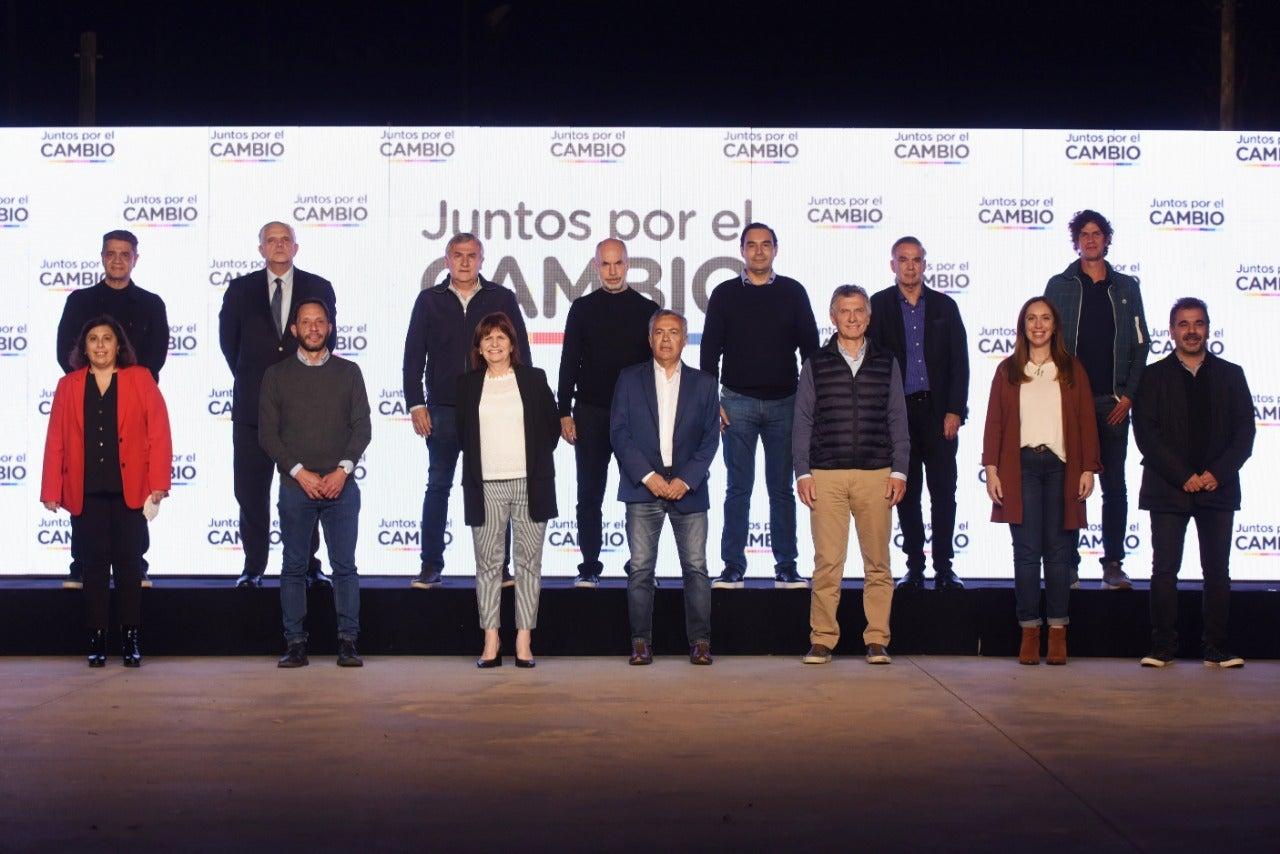 """Partido de oposición argentino """"Juntos por el Cambio""""."""