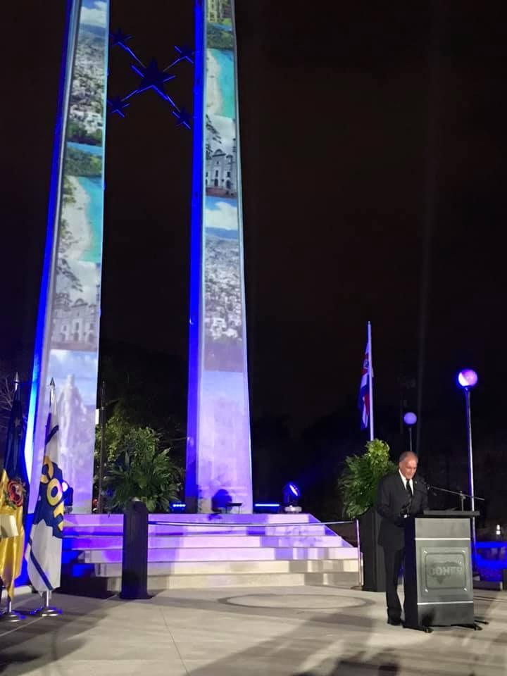 El alcalde capitalino destacó que las obras se construyen gracias a los impuestos.