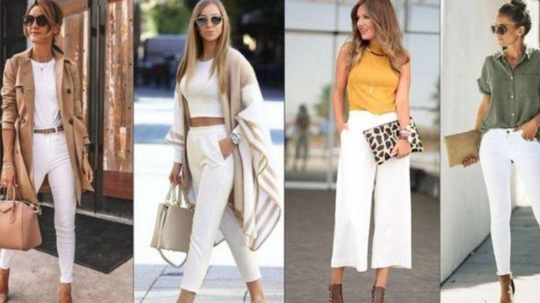 Errores al usar pantalones blancos que quitan elegancia a tu look
