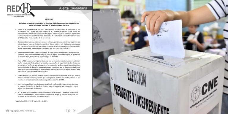 Honduras: REDH alerta sobre intento de boicot de las elecciones