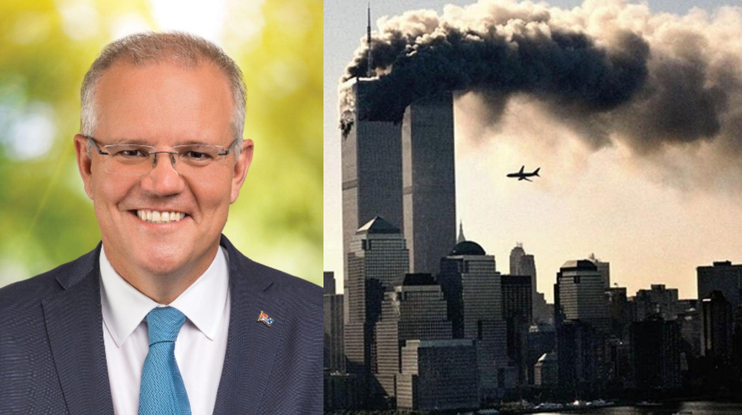 Scott Morrison dedicó unas palabras en homenaje a las víctimas de los atentados del 11 de septiembre.