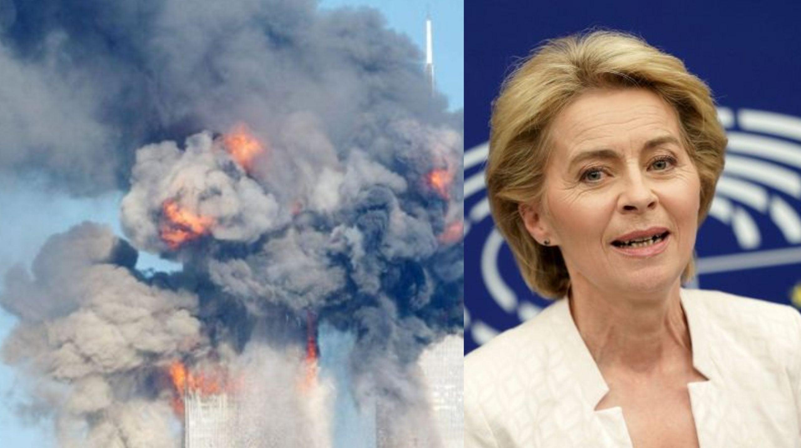 Ursula von der Leyen, rindió homenaje a las víctimas de los atentados.