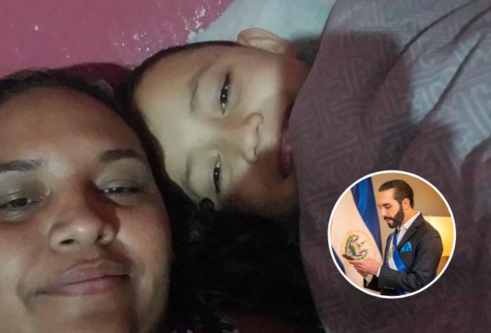 Madre hondureña pide ayuda a Bukele