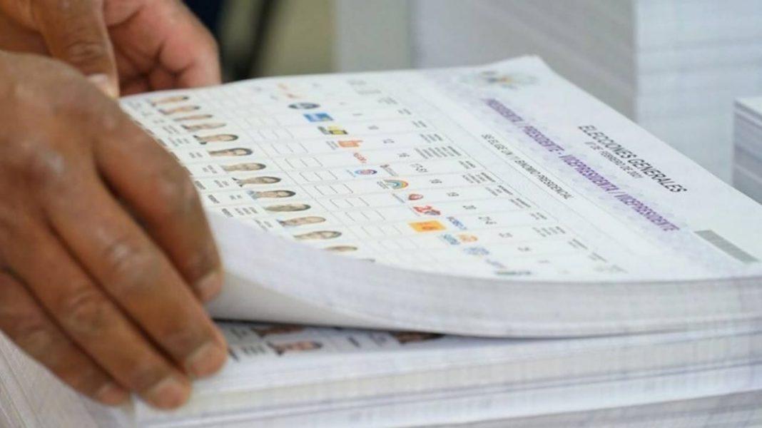impresión de papeletas electorales