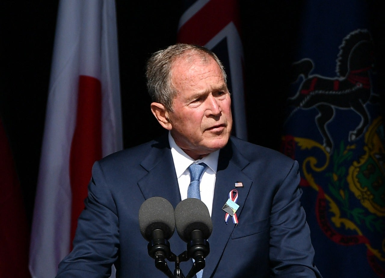 Bush lamenta desunión de EEUU a 20 años de los atentados del 9/11