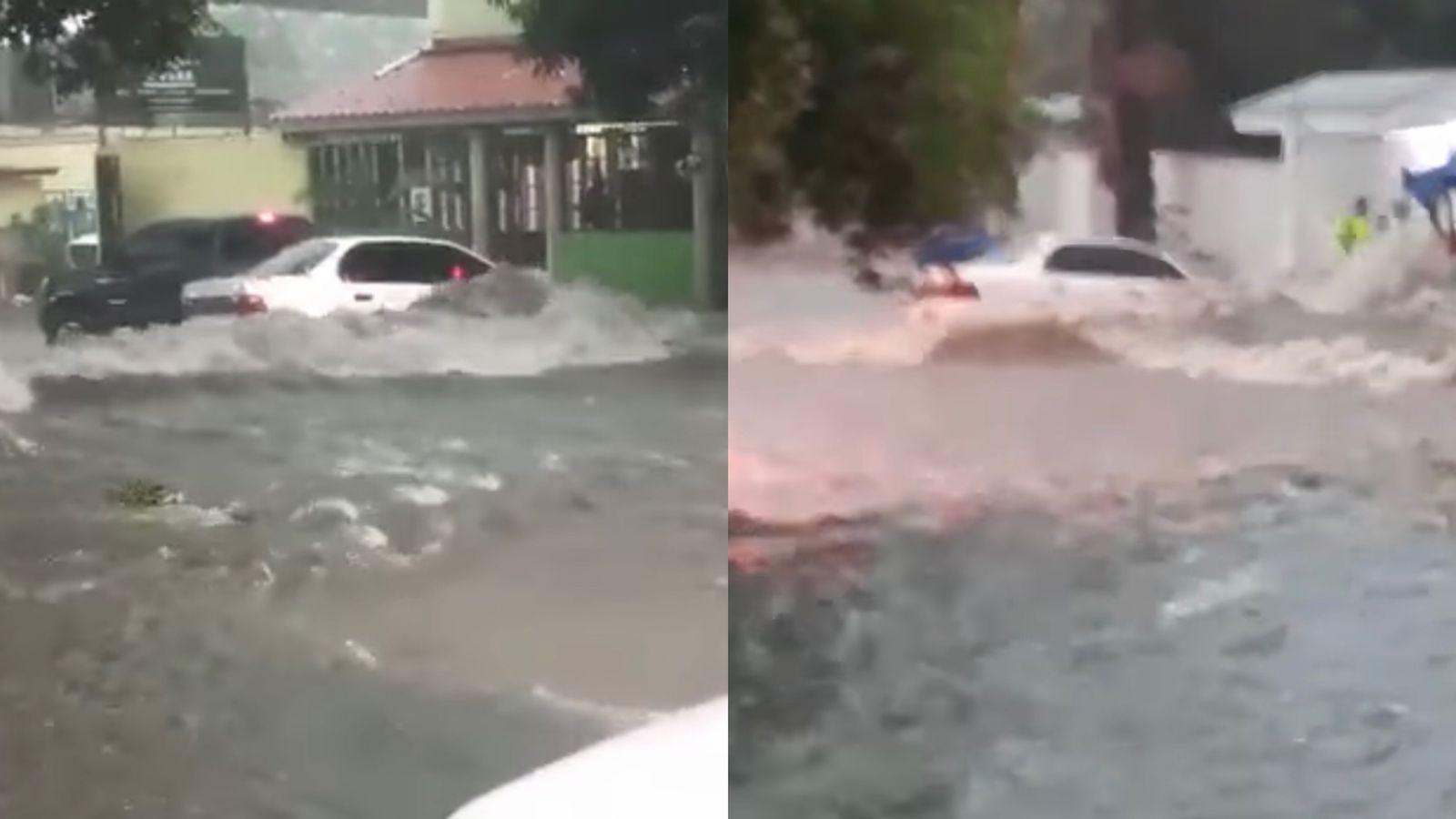 lluvias 13 calle de SPS